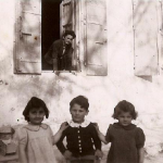From left, cousin Claudine, Patrick and Dinah, all watched over by Ninou